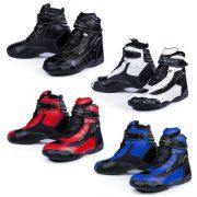 Black-FC-Tech-Motorrad-Stiefel-kurz-Schuhe-knchelhoch-0-10