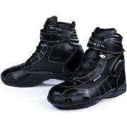 Black-FC-Tech-Motorrad-Stiefel-kurz-Schuhe-knchelhoch-0-11