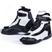 Black-FC-Tech-Motorrad-Stiefel-kurz-Schuhe-knchelhoch-0-12